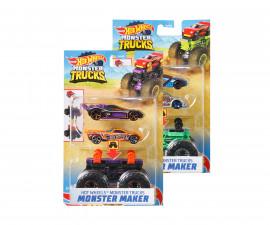 Игрален комплект за деца Hot Wheels - Голямо бъги Monster с 2 колички Хот Уилс GWW13
