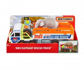 Колекционерски колички за момчета Matchbox - Камион за превоз на слонове