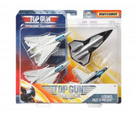 Игрален комплект 4 броя самолети Matchbox, Top Gun GPF72