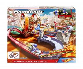Игрален комплект за деца Hot Wheels - Супер Марио: Замъка на Баузър GNM22