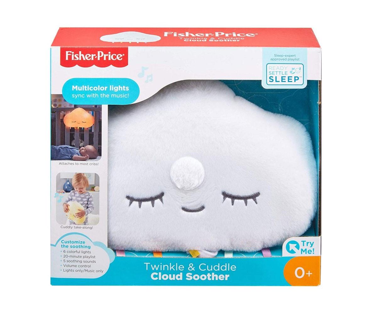 Детска музикална играчка лампа Фишър Прайс, светещо облаче