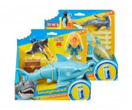 Детска забавна играчка Imaginext: Акула и превозно средство, асортимент GKG78