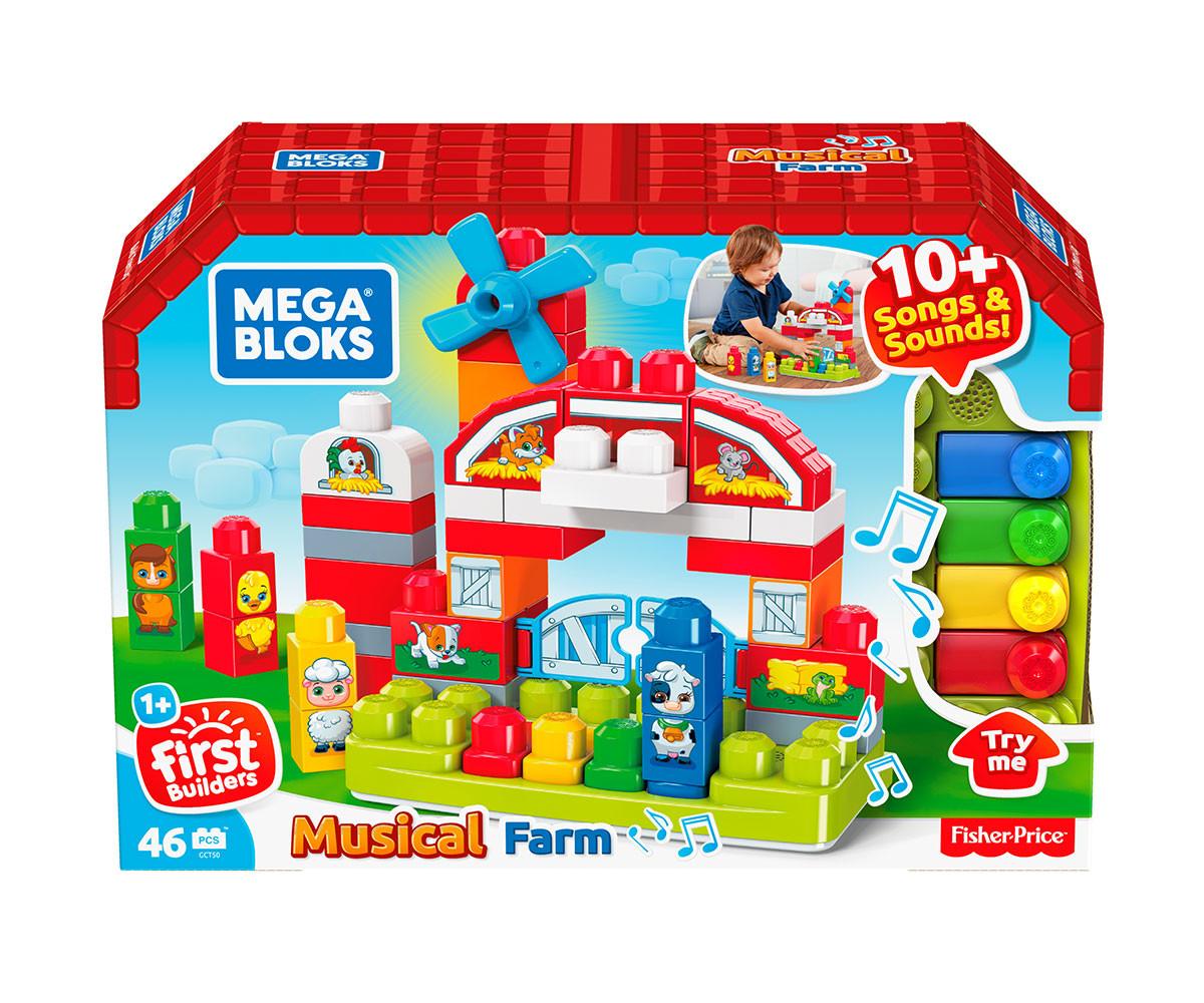 детски игрален комплект Mega Bloks музикална ферма комсед