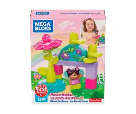 Детски комплект за игра конструктор цветна градина Мега Блокс