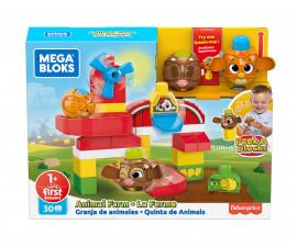 Игрален комплект за деца конструктор Mega Bloks, ферма GRJ18