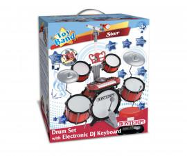 Комплект барабани, DJ клавиатура, микрофон и стол