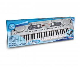 Музикален инструмент за деца - Електронен синтезатор 54 клавиша и MP3 вход Bontempi 16 5415