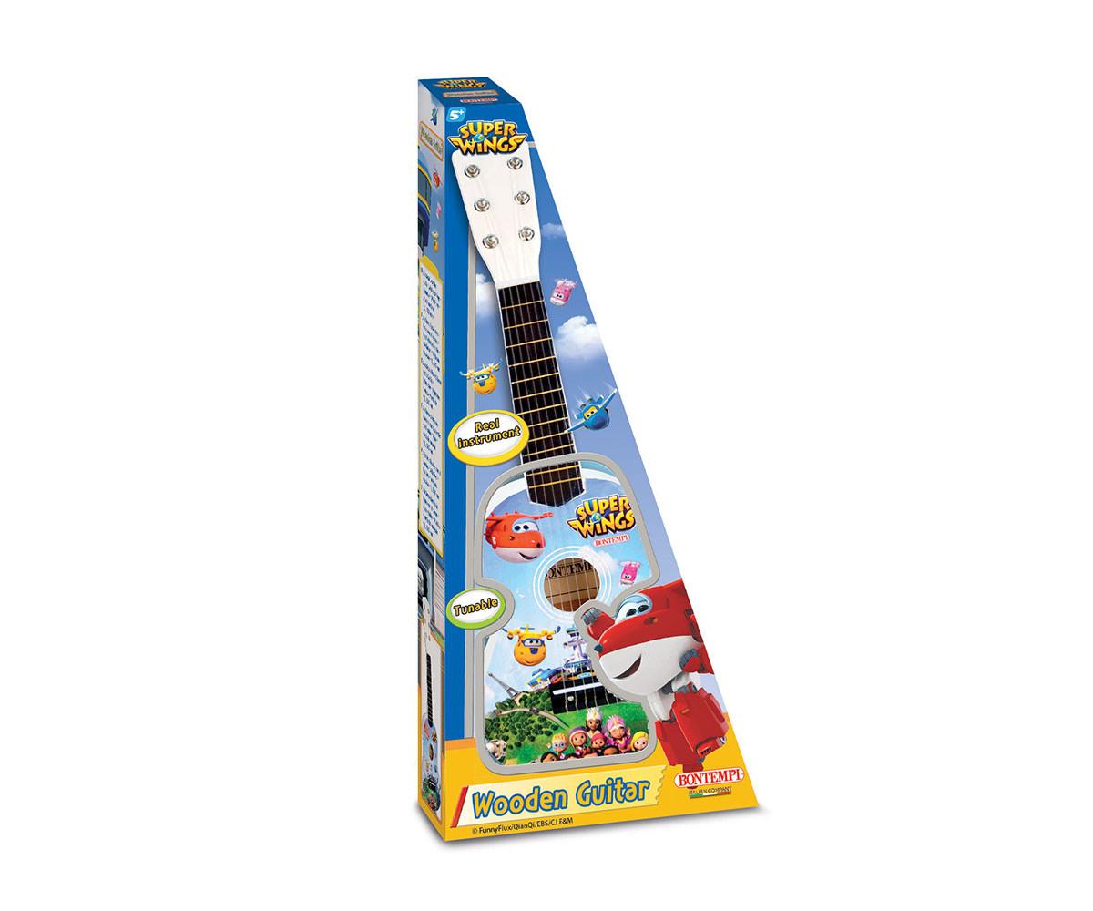 Детска музикална играчка класическа дървена китара 55 см. Bontempi 22 5569