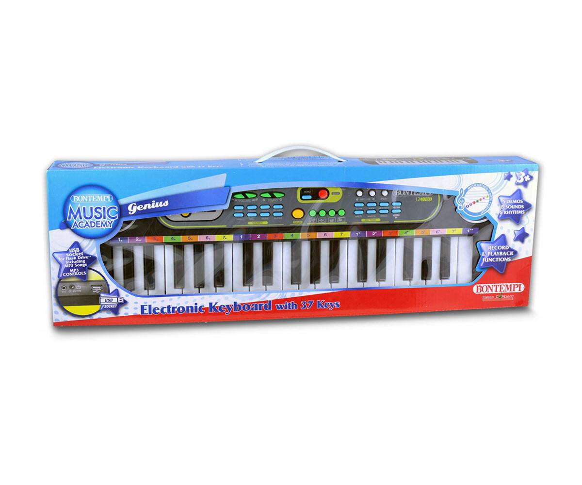 Детска музикална играчка дигитален синтезатoр с 37 клавиша и USB Bontempi 12 3780