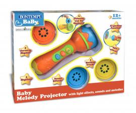 Детска музикална играчка микрофон със звук и светлина Bontempi 70 1425