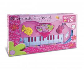 Музикален инструмент за деца sинтезатор със светлинни ефекти за момиче Bontempi 12 2471