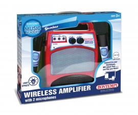 Музикална играчка за деца - WiFi караоке усилвател с 2 микрофона Bontempi 486000