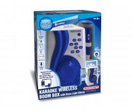 Музикална играчка за деца - WiFi караоке усилвател с микрофон и диско светлини Bontempi 486100