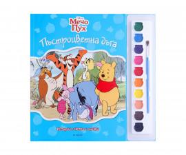 Детска занимателна книжка на Издателство Егмонт - Мечо Пух: Истории с четка и боички