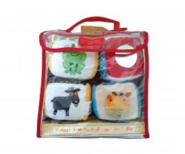 Детска образователна книжка на Издателство Фют - Комплект книга и меки кубчета за игра - домашни животни