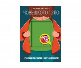 Детска образователна книжка на Издателство Фют - Магическа лупа: Човешкото тяло