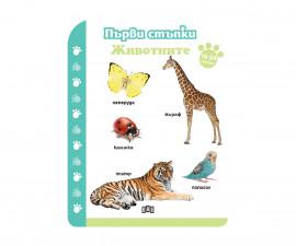 Детска образователна книжка на издателство Пан - Първи стъпки. Животните 18-24 месеца
