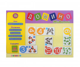 Детска занимателна игра Домино - животни