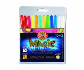 Магически флумастери Koh-i-Noor, 10+2 цвята