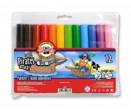 Маркери за рисуване Koh-i-Noor, Пирати 12 цвята