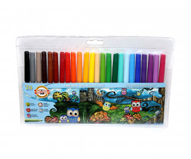 Флумастери за оцветяване и рисуване бухалчета, 24 цвята