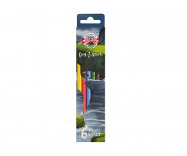 Цветни моливи Koh-i-Noor Дино, 6 цвята