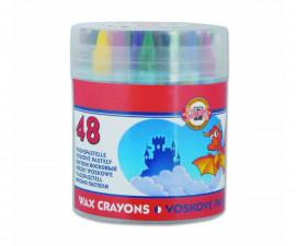 Комплект восъчни пастели Koh-i-Noor, 48 цвята