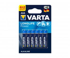 Алкални батерии VARTA High Energ (AAA) 4+2 броя 070210