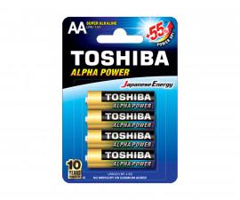 Алкални батерии TOSHIBA Alpha Power (усилена), (AA), LR6, 1.5V 1TOBA03000000ALP6D