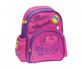 Детска чанта Smiley, 25х13х34 см., розова