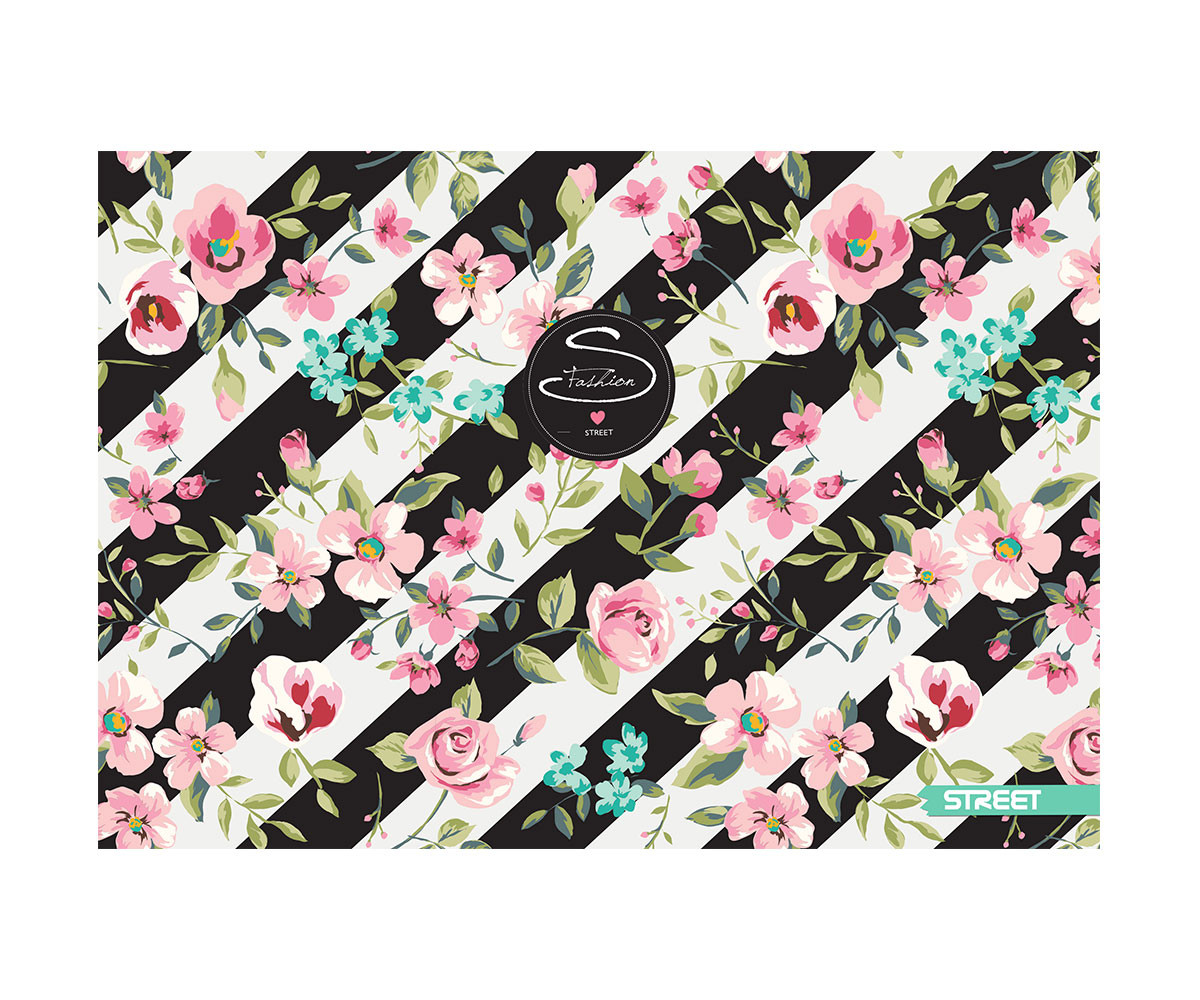 Скицник Street Flowers, A3, 20 листа