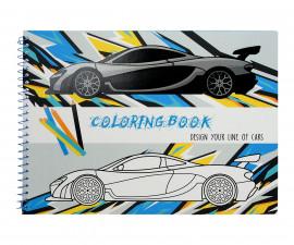 Детска занимателна книжка за оцветяване, А4, 31 страници, Cars 75096