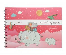 Детска занимателна книжка за оцветяване Cute, А4, 37 страници 75097