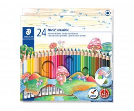 Ученически принадлежности цветни моливи Staedtler NC 144 50, с гума, 24 цвята 22046-А