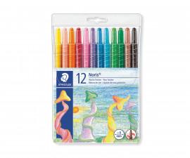 Пастели за рисуване и оцветяване Staedtler Noris Club, 12 цвята