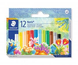 Маслени пастели за рисуване и оцветяване Staedtler Noris Club, 12 цвята
