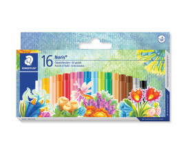 Маслени пастели за рисуване и оцветяване Staedtler Noris Club, 16 цвята
