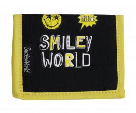 Детски портфейл Smiley World, черен