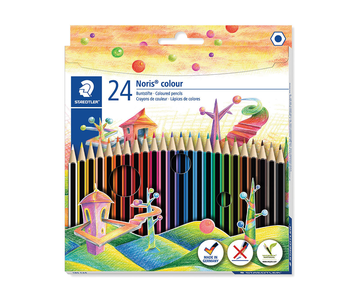 Цветни моливи за оцветяване и рисуване Staedtler, 24 цвята