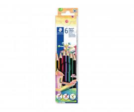 Ученически принадлежности цветни моливи Staedtler Noris Colour 185, 6 цвята 24890-А
