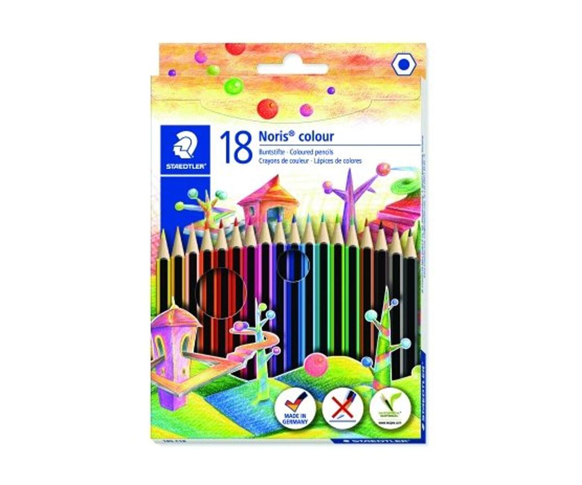 Цветни моливи Staedtler Noris Colour, 18 цвята