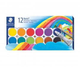 Акварелни боички за оцветяване Staedtler Noris Club, 12 цвята