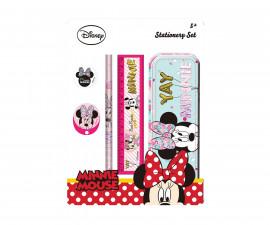 Детски комплект за училище Disney Minnie, в метална кутия