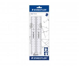 Ученически принадлежности линия Staedtler, прозрачна, 15 см, 2 броя 562 152 PB