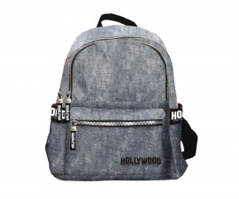 Детска чанта Hollywood, 25 x 15 x 30 см, сива