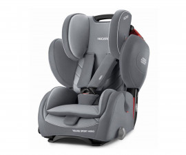 Детско столче за кола Recaro Young Sport Hero, Aluminium Grey S027, 9-36кг