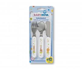 Комплект лъжичка виличка и ножче Baby Nova, метални 34338