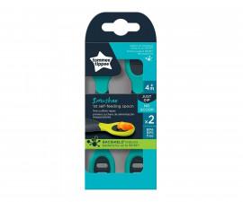 Лъжица за самостоятелно хранене с антибактериално покритие Tommee Tippee Smushee, 4м+, 2 броя TT.0214