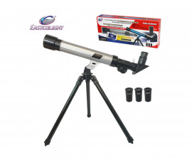 Детска играчка - телескоп - Телескоп 20/30/40 с трипод, сив