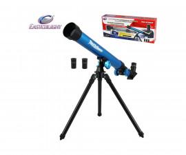 Детска играчка - телескоп - Телескоп 20/30/40 с трипод, син